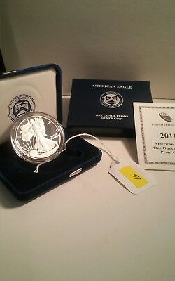 2011 US Mint American Eagle One Ounce Silver Proof Coin in OGP w/ COA
