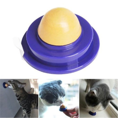 Healthy Cat Snacks Catnip Sugar Candy Licking Solid Nutrition Energy Ball Toy CN