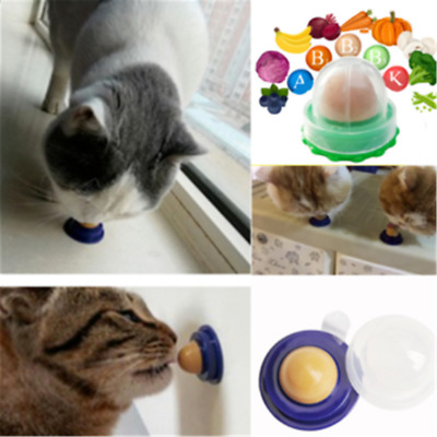 Novelty Cat Snacks Catnip Sugar Candy Licking Solid Nutrition Energy Ball Toy CN