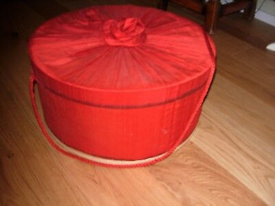 Large Vintage Hat/storage Box Great For Dolls Clothes Etc.