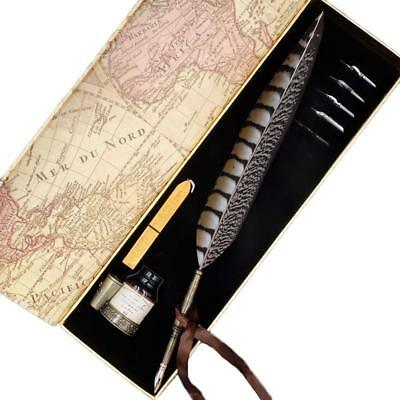 GC Writing Quill Calligraphy Set-Antique Feather Dip Pen With Ink And Nibs 2018
