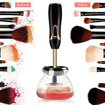 Electric Makeup Brushes Cleaner 360 Rotation fit for all size makeup brushes