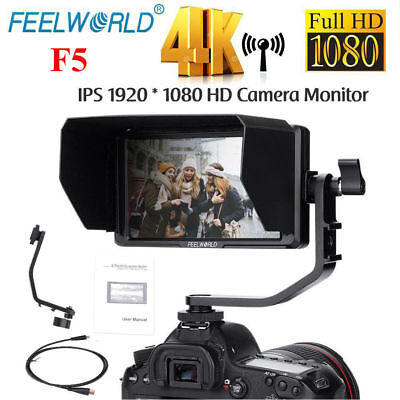 Feelworld F5 5inch HD IPS 4K Ultra-thin HDMI Camera Monitor Set for DSLR Cameras