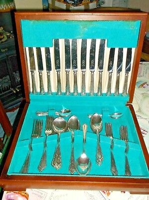 44 Piece Canteen Of Plated And Stainless Steel By George Butler Sheffield