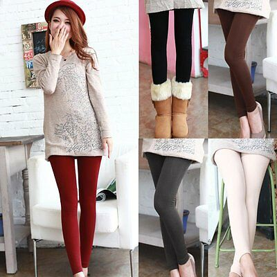 2016 New Womens Warm Winter Thick Skinny Slim Footless Leggings Stretch PanNS