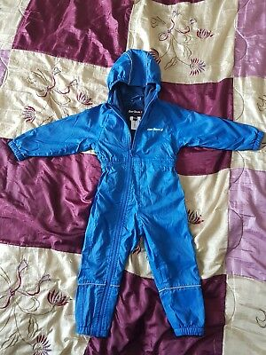 Baby boys girls Peter Storm snowsuit pram suit all in one winter 18-24 months