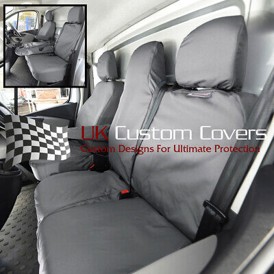VAUXHALL VIVARO 2019 ONWARDS TAILORED FRONT SEAT COVERS BLACK 367