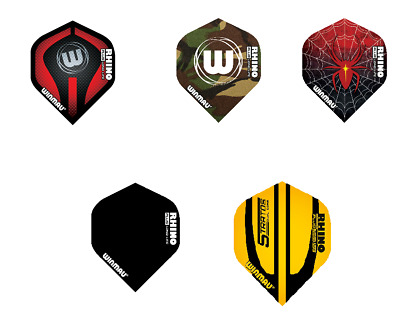 Winmau Rhino Plus Ultra Thick Dart Flights - 1 or 3 sets