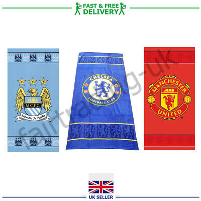 Authentic Football Manchester United City Chelsea Towels Gym Beach Bath Shower