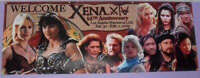 Official Xena Convention Banner Signed by Lucy Lawless Renee O'Connor + Others