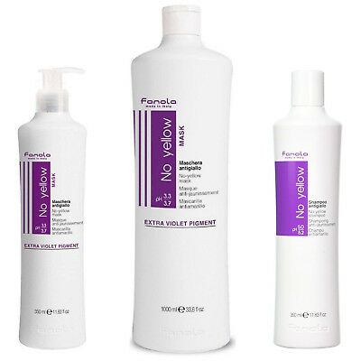 FANOLA No Yellow Shades Shampoo Mask Nutri Care Violet Pigment 350ml 1000ml 1L