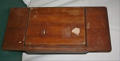 Vintage Wooden Fold Out Sewing Cabinet Top