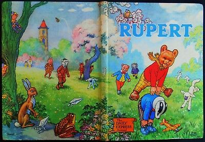 1958 Original Rupert Bear Annual, Price Unclipped 5/-