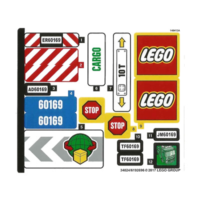 Lego New Sticker for Set 41104 Mirrored 21210//6115154 Pieces