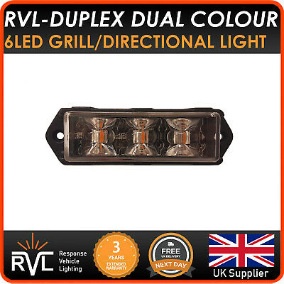 Dual Colour LED Strobe Warning Light Module Grill - Like Premier Hazard flashing