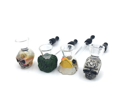 Resin + Glass tube Creative Portable Pipe Smoking Herb Tobacco Smoke Pipes