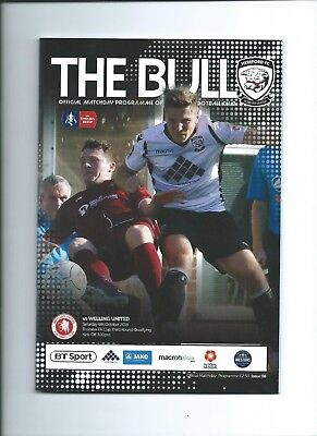 2018/19  Hereford F C v Welling United  FACup Mint Condition