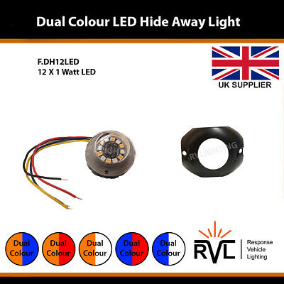 Dual Colour LED Hide Away Strobe Warning Flashing Light Like Premier Hazard