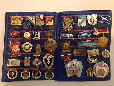Vintage Russian Soviet Union USSR Russia Collectible Pins Lot of 37