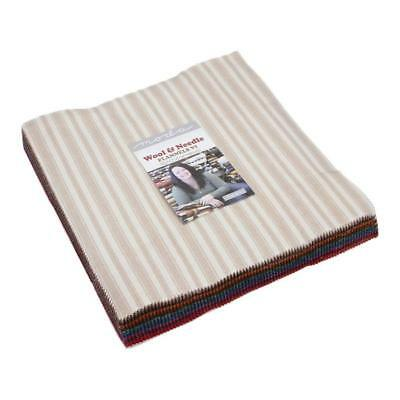 Wool & Needle VI Flannels Layer Cake, 42-10 inch Precut Fabric Quilt Squares by