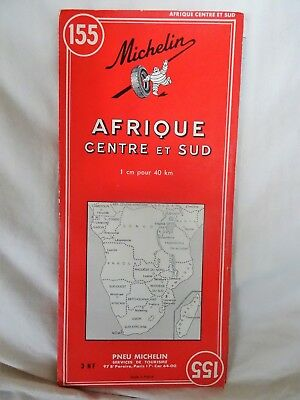 Carte Michelin 155 map Afrique centrale et sud Central and southern Africa 1961