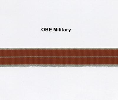 """12"""" of MODERN MINIATURE Medal Ribbon for the OBE/MBE MILITARY"""