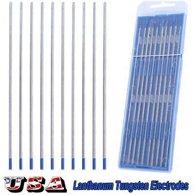 10pcs 2% Lanthanated WL20 Blue TIG Welding Tungsten Electrode 2.4 x 150mm