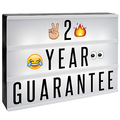 A4 Cinematic Letter Light Box 205 Emoji/Letters & Free USB Cable M&W
