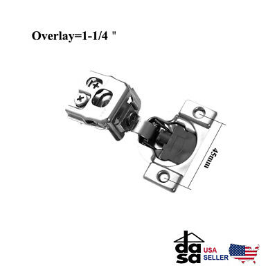 """1 1/4"""" Overlay Soft Close  Face Frame  Compact Cabinet Hinge 6 Way Adjustment"""