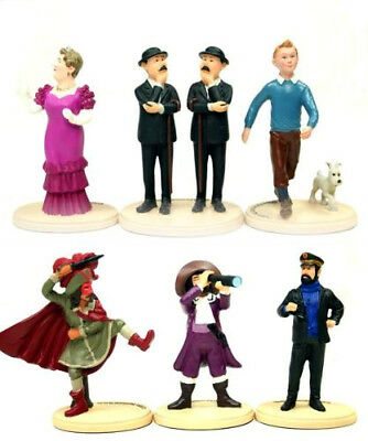 THE ADVENTURES OF TINTIN - COLLECTION 6 FIGURES RESIN - 2010 Hergé