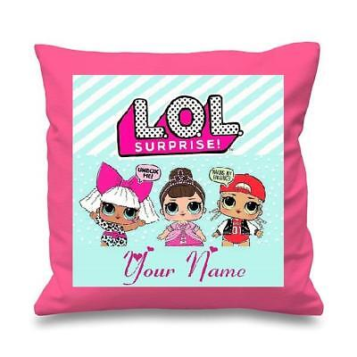 Lol Dolls Decorative Personalised Cushion Cover Pink ,free P&p