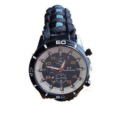 Paracord Watch with Black and Blue Strap for the Cambridgeshire Police