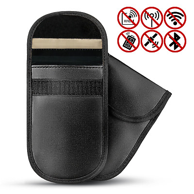 2 X Car Key Signal Blocker Pouch Anti Theft Keyless Fob RFID Case Pukkr