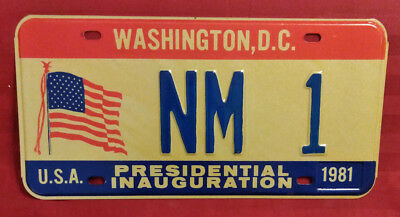 1981 District Of Columbia Nm-1 New Mexico Inaugural License Plate