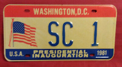 1981 District Of Columbia Sc-1 South Carolina Inaugural License Plate