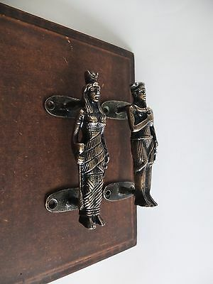 Vintage Antique Style Solid Brass Pair Of Cabinet Door Handles