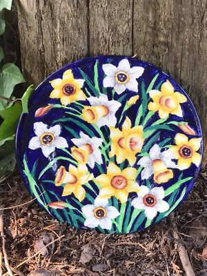 1930's Maling Pottery Tube Lined Daffodil Plate