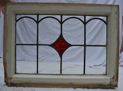 1 British art deco leaded light stained glass window. S847. For restoration.