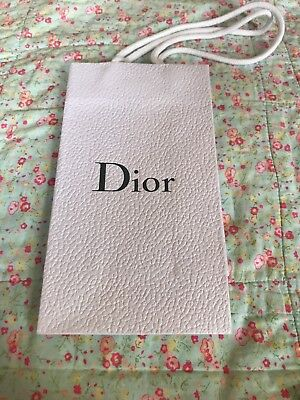 Authentic Christian Dior paper shopper carrier gift bag - white small