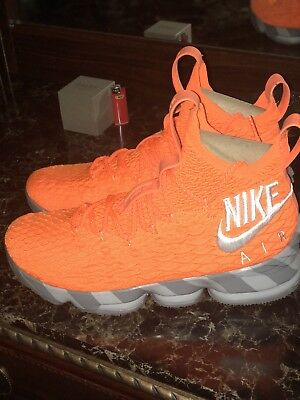 e01e9c98abdc NIKE LEBRON 15 Orange Box (Size 9.5) -  300.00