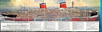 S.S. UNITED STATES Cutaway Brochure - Excellent - NAUTIQUES sHiPs WORLDWIDE