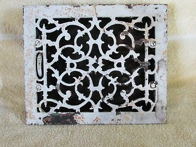 Antique Victorian  Heat Register Grate with Flowing Scroll Pattern, Salvage