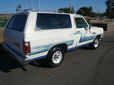 1987 Dodge Ramcharger  1987 DODGE RAMCHARGER RUST FREE 2WD RUNS GREAT 5.9 LITRE