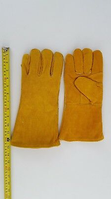13 Inch Split Leather  Insulated Welding Gloves Sz Large