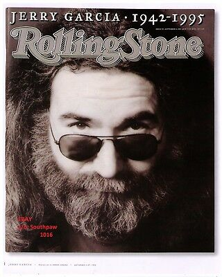 1995 Jerry Garcia (Grateful Dead) 1942-1995 Rolling Stone Magazine Cover Photo