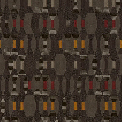 Maharam Tally Bistro Mid Century Modern Browns ,Red, & orange Upholstery Fabric