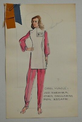 CAROL MARCUS (STAR TREK 2 Wrath of Khan, 1982) production-used Costume Sketch