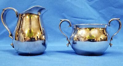 Vintage REED & BARTON #965 Small Silverplate Creamer Pitcher and Sugar Bowl