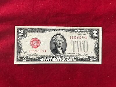 FR-1508  1928 G Series $2 Two Dollar Bill Red Seal US Legal Tender Note *Ch Unc*