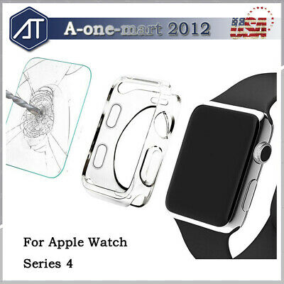For Apple Watch Series 4 40MM / 44MM 3D Full Cover Screen Protector + Soft Case